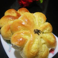 花儿椰蓉面包