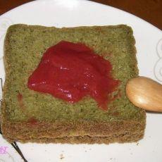 核桃豆浆菠菜吐司的做法