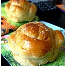 超软芋泥花朵面包