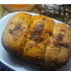 面包机版肉松葡萄干面包