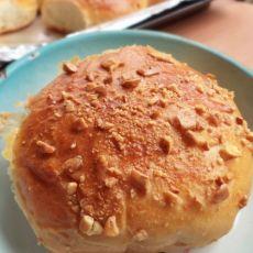果仁豆沙面包