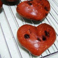 巧克力心形面包