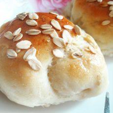 豆浆麦片面包的做法