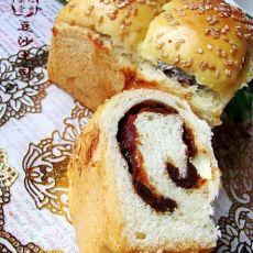 经典口味的---豆沙土司面包
