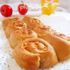 肉松荞麦面包卷