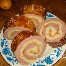 双色双薯面包卷