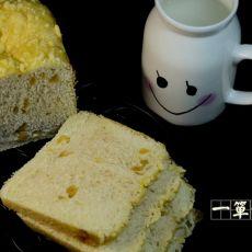 面包机版提子奶酥面包
