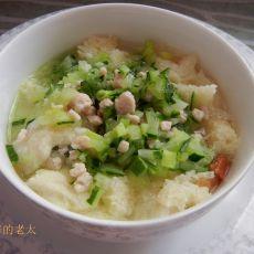 黄瓜瘦肉面包粥