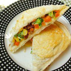 蔬菜沙拉口袋三明治