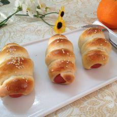 热狗面包卷的做法步骤