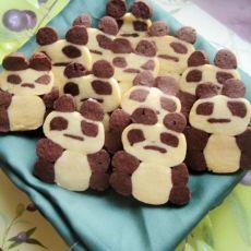 立体熊猫饼干