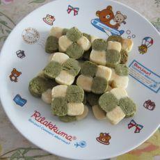 双色绿茶饼干