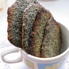 黑芝麻薄脆饼