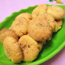芝麻蛋黄饼干