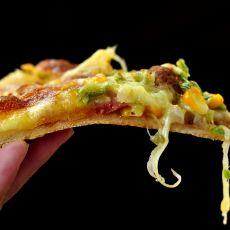 香肠肉丸脆底披萨
