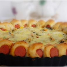 摩天轮什锦海鲜披萨