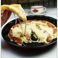 土豆脆肠披萨的做法