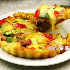 脆皮培根彩椒披萨