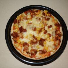 烤鸡玉米披萨的做法