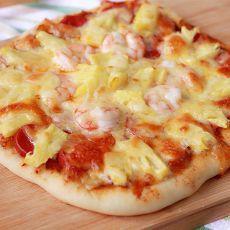 菠萝鲜虾披萨