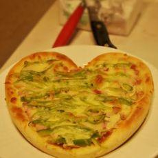 心型培根披萨