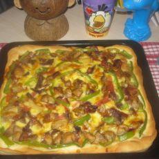 酱牛肉肉丸披萨的做法