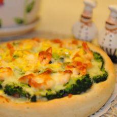 全麦虾仁披萨