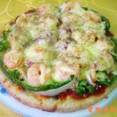 虾仁火腿肠比萨的做法