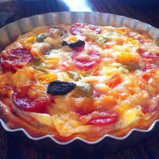 培根薯泥杂蔬披萨
