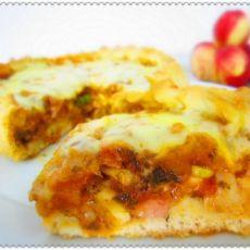 培根杂蔬披萨