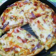 蔬菜火腿比萨