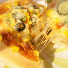 黑橄榄烤肉披萨