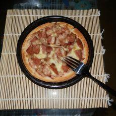 蓝莓火腿披萨