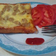 马苏里拉土司披萨