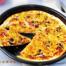 黑椒牛肉脆披萨