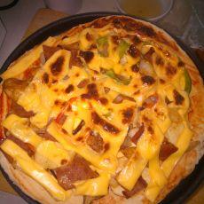 培根鸡腿肉披萨
