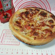 培根杏鲍菇马苏里拉披萨