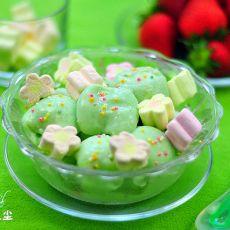 牛奶棉花糖冰激凌