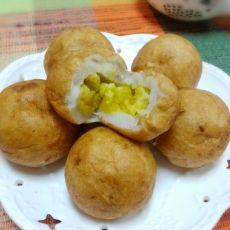 咸蛋黄芋泥球