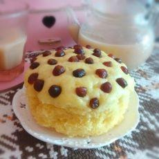 椰香玉米面发糕