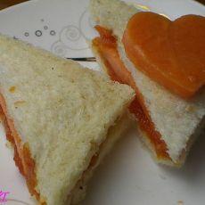 木瓜酱三明治