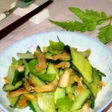 香菇炒黄瓜