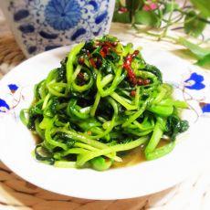 素炒油菜苗的做法