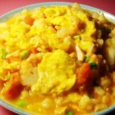 番茄鸡蛋花椰菜