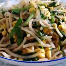 韭菜黄豆芽的做法