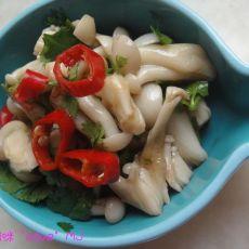 凉拌白玉菇的做法