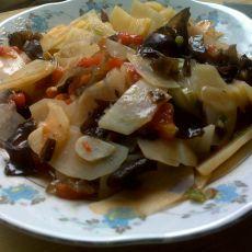 木耳西红柿溜土豆片的做法