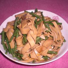干豆腐丝炒豇豆的做法