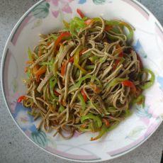 尖椒豆腐丝的做法