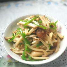 杏鲍菇炒青椒的做法